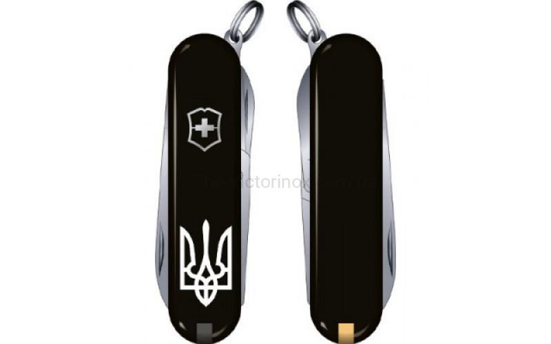 Нож Victorinox Classic SD Ukraine 0.6223.3R1 черный
