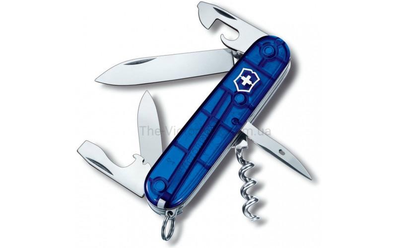 Швейцарский складной нож Victorinox Spartan, синий прозрачный (1.3603.Т2)