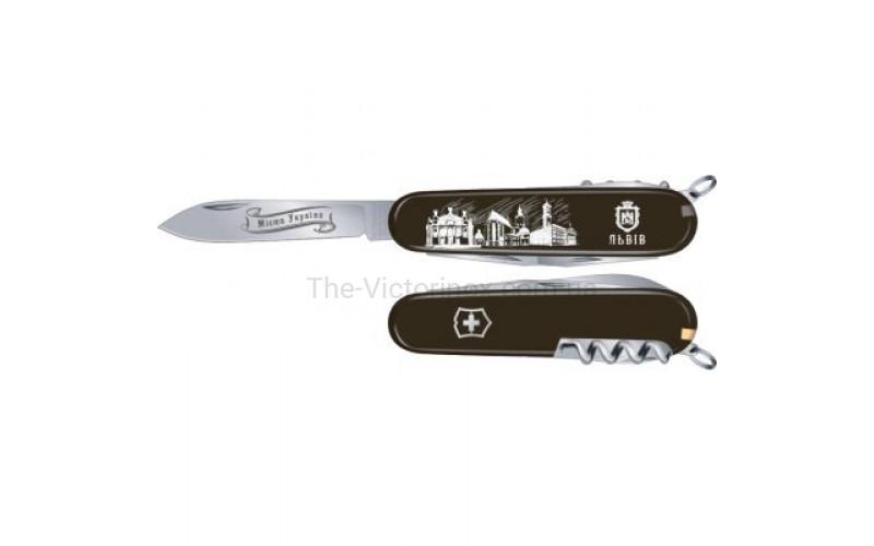 Складной нож Victorinox Spartan UKRAINE City Львов 1.3603.3R31