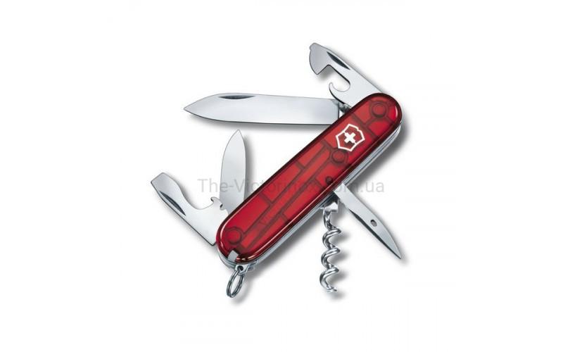 Швейцарский складной нож Victorinox Spartan, красный прозрачный (1.3603.Т)
