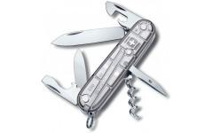 Швейцарский складной нож Victorinox Spartan, серебряный прозрачный (1.3603.Т7)